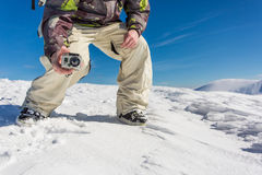 filming with action camera Royalty Free Stock Photos