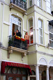 Filming adultery, Istanbul, Turkey Stock Images