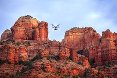 Filming Cathedral Rock Stock Image