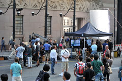 Filming of Cobu 3D in Toronto. Filming of the Duane Adler (Save The Last Dance For Me) musical/dance movie Cobu 3D, set in New York, takes place in front of the Stock Photo