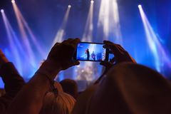 Filming at a Gig Stock Photography