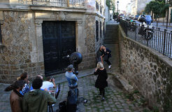 Filming on Montmartre in Paris, France Stock Photo
