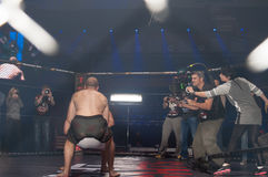 Filming the movie Warrior Stock Image