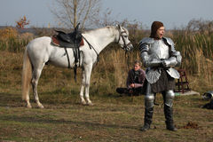 Filming of the new movie The Knights Stock Photos