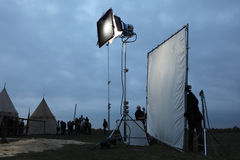 Filming of the new movie The Knights Stock Photo