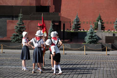 Filming on Red Square in Moscow Stock Images