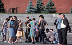 Filming on Red Square in Moscow Royalty Free Stock Photo