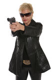 Filming a spy movie Stock Images