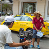 """During the filming """"Taxi, what's your name?"""" Stock Photography"""