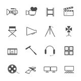 Filming tool Icons movie Stock Images