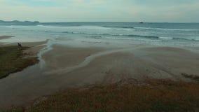 Filming the waves in the Wonderful beach, beach Vila in Imbituba, Santa Catarina, Brazil. Filming the waves in a Wonderful Beach, Beach Ribanceira, Imbituba stock video