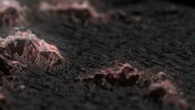 Filmisk bakgrund levande fördärvar Sömlös ögla stock video
