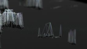 Filmisk bakgrund växande och minskande strukturer Sömlös ögla stock video