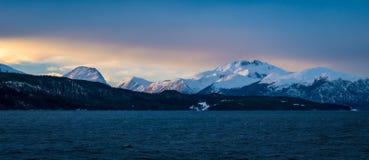 Filmiskt landskap på den arktiska cirkeln Kanada arkivfoto