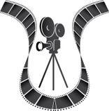 Filmkamera royaltyfri illustrationer