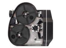 Filmkamera för yrkesmässig kropp på den 16mm filmen som isoleras på vit bakgrund Arkivfoto