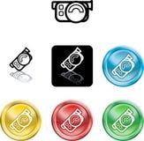 Filmkamera-Ikonensymbol Lizenzfreies Stockfoto