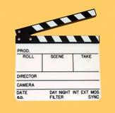 Filmklatschen Stockfoto