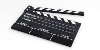 Filmklep op witte achtergrond 3D Illustratie Royalty-vrije Stock Foto's