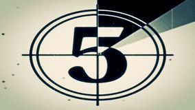 Filmledare Countdown Frame Five Arkivbilder