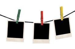 Filmleerzeichen auf einem Seil lizenzfreie stockfotografie