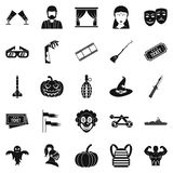 Filmmaker icons set, simple style. Filmmaker icons set. Simple set of 25 filmmaker vector icons for web isolated on white background Stock Image