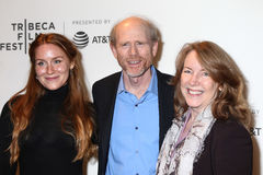 Filmmaker Ron Howard in center with guest`s. NEW YORK- APRIL 20: Filmmaker Ron Howard in center with guest`s  attends the `Genius` Premiere during Tribeca Film Royalty Free Stock Images