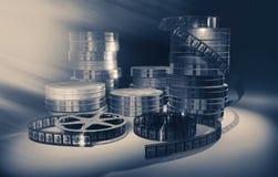 Filmmaking concept scene. 3D illustration. Royalty Free Stock Photo