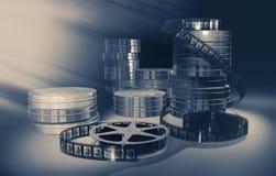 Filmmaking concept scene. 3D illustration. Stock Images