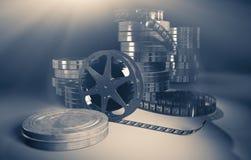Filmmaking concept scene. 3D illustration. Royalty Free Stock Photos
