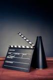 Filmmaking scene with dramatic lighting Stock Photos