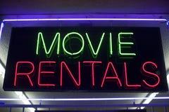 Filmmieten Neon Lizenzfreie Stockfotografie