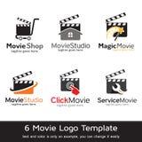 Filmmultimedia Logo Template Design Vector Arkivfoton