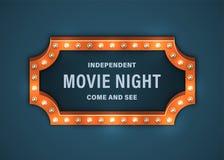 Filmnachtzeichen lizenzfreie abbildung