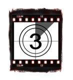 filmnr. för 3 nedräkning Arkivfoton