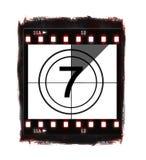 filmnr. för 7 nedräkning stock illustrationer