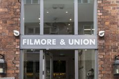 Filmore and Unio entrance and sign in York, Yorkshire, UK - 4th stock photos