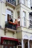 Filmoverspel, Istanboel, Turkije Stock Afbeeldingen