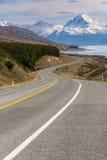 Filmowa droga Wspinać się Cook, Nowa Zelandia Obraz Royalty Free