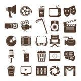 Filmowy ikona set Fotografia Stock