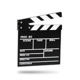 Filmpanelbräda Isolerat på vit Arkivbild
