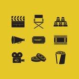 Filmpictogrammen Royalty-vrije Illustratie