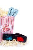 filmpopcorn för exponeringsglas 3d Arkivbilder
