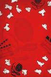FilmPopcornbakgrund Fotografering för Bildbyråer