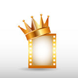 Filmpreisdesign stock abbildung