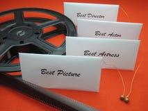 Filmpreise - Siegerumschläge lizenzfreie stockbilder