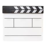 Filmproduktions-Scharnierventilbrett Stockbilder
