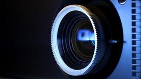 Filmprojectorlens stock videobeelden