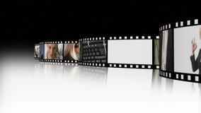 Filmremsa av affärsfolk 2 arkivfilmer