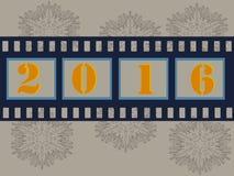 Filmremsa 2016 för glad jul Arkivbild